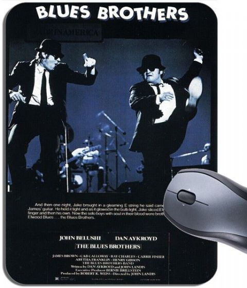 Blues Brothers Classic Movie Poster Mouse Mat. Film High Quality Mouse Pad Gift